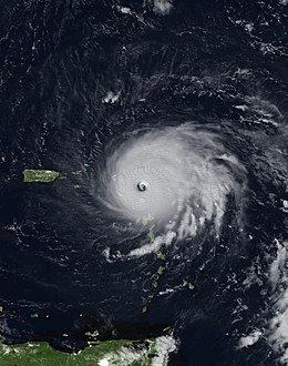 Satellite image of Hurricane Irma Over the USVI.
