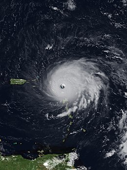Satellite image of Hurricane Irma Over the USVI.